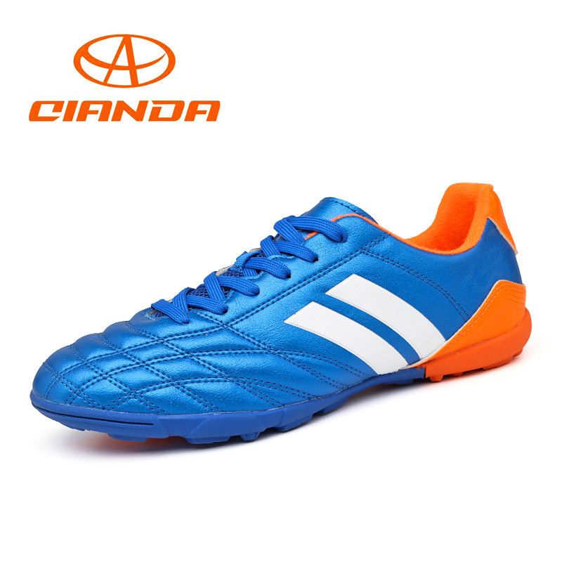 QIANDA Men Football Shoes Outdoor Cleats AG Turf Professional Soccer Original Sneakers Hard-wearing Training Adults Boots