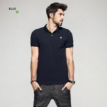 13a9d8774841 KUEGOU Summer Mens 100% Cotton Polo Shirts Embroidery Black Blue Brand  Clothing For Man s Short