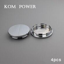 KOM 60mm wheel Hubcaps /Clip 54mm voiture centre tapas car rims center cap without emblems blank covers hood chrome abs KP605460