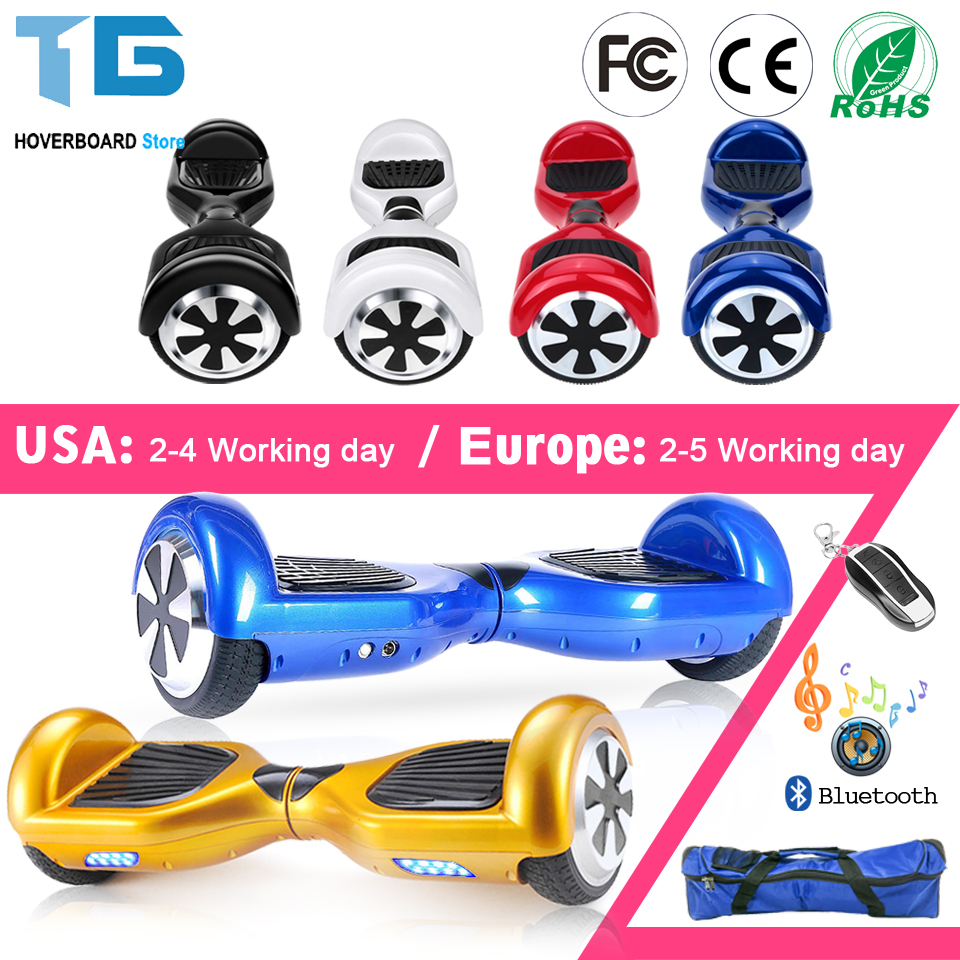 Hoverboard 6.5Electric Skateboard Smart Self Balance Scooter 2 Wheel Hoover Boosted Hover Board Walk Car Unicycle USA Warehouse 8 inch hoverboard 2 wheel led light electric hoverboard scooter self balance remote bluetooth smart electric skateboard