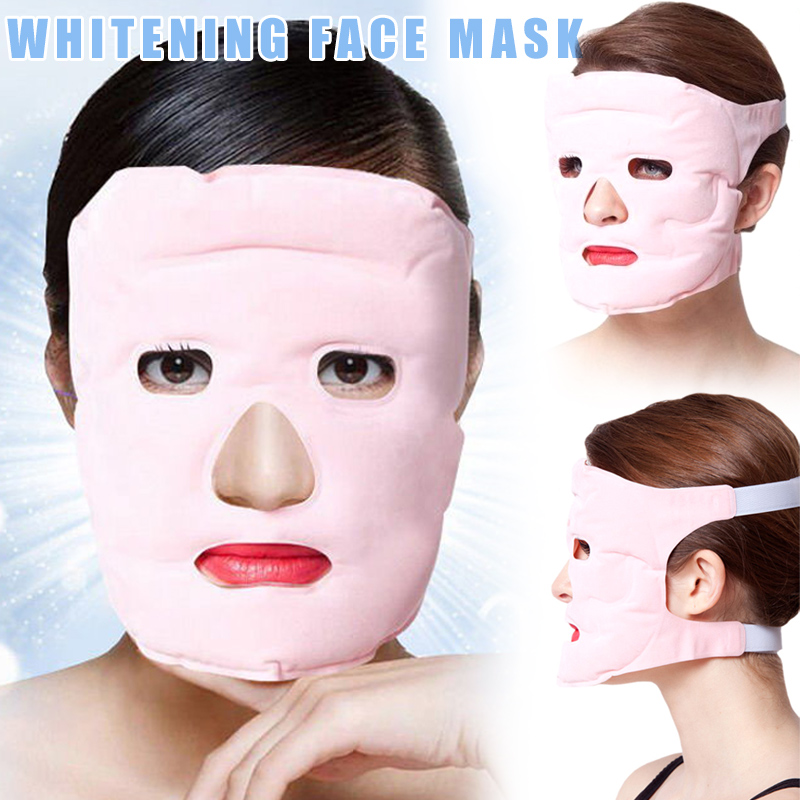Beauty Face-lift Mask Tourmaline Magnetic Therapy Massage Moisturizing Reusable Face Mask MH88