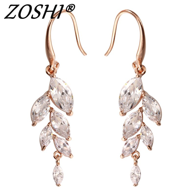 Fashion Long Geometric Shaped Clear CZ Brincos Gold Silver Dangle Earrings Jewelry for Women Brincos Hot Gift New Drop Earrings