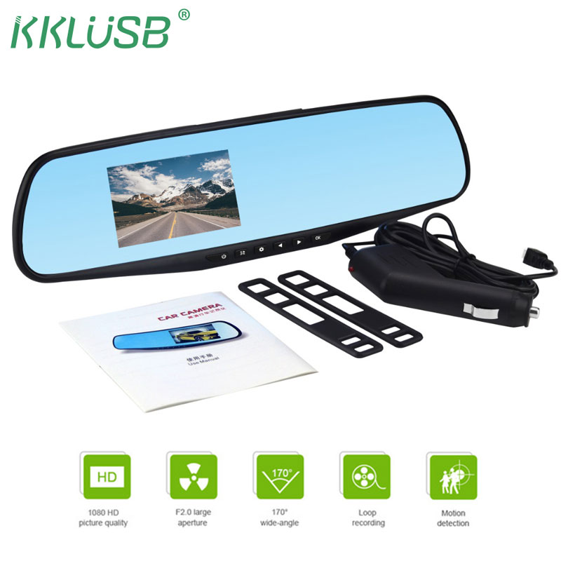 3.2 inch 1080P car rearview mirror Car Dvr full HD 1080P car driving video recorder camera car reverse image dual lens dash cam