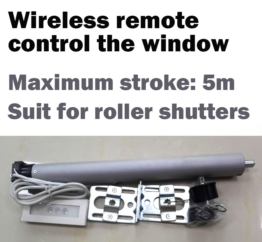 AC Tubular Motorized Roller shutters Curtains Motor Remote Control by Broadlink or Geeklink or Remote Button Suit for 50mm Tube cybernetics or control
