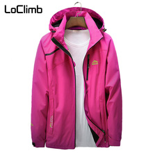 цена на LoClimb Outdoor Jacket Women Spring/Autumn Tourism Windbreaker Waterproof Coat Mountain Climbing/Trekking/Hiking Jackets AW213