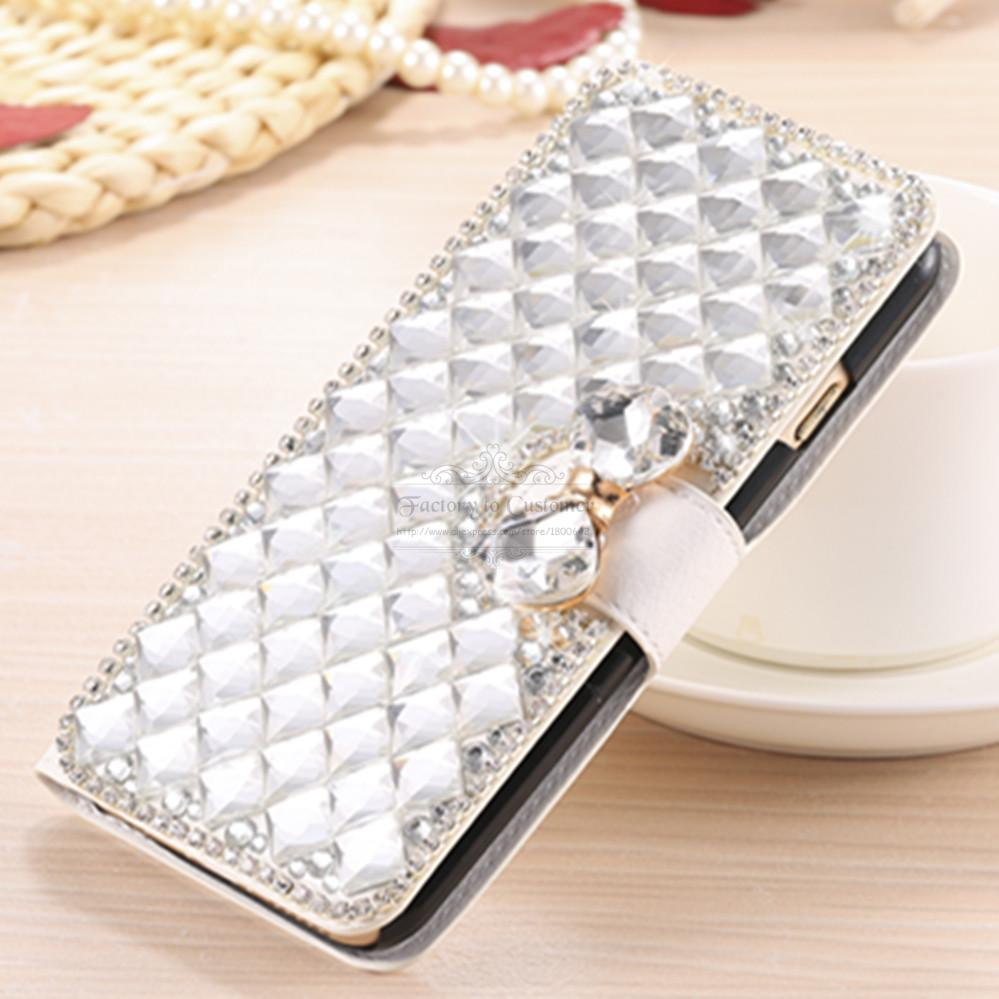 Luxury Bling Crystal Rhinestone Diamond Flip Leather Case Cover for Samsung Galaxy S4 Active i9295 Kickstand Wallet Bag