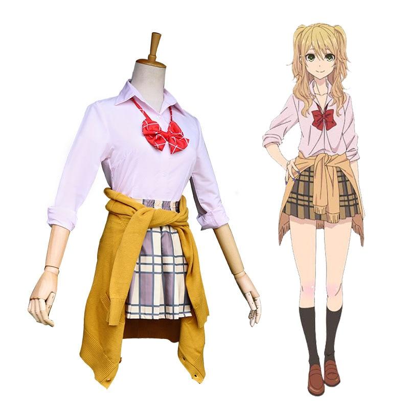 Citrus Aihara Yuzu Aihara Mei Momokino Himeko Taniguchi Harumi Cosplay Costume Anime Sweater Skirt Vest Japanese School Uniform