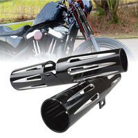 39mm 14 Motorcycle Aluminum Motorcycle Boot for harley forks cover for Harley XL883 XL1200 X48 2003 2017