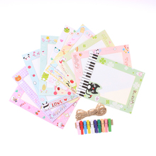 9pcs/set 6 inch Cartoon Paper Picture Frame Baby Handprint cute Photo Frames Hang On the Wall Show