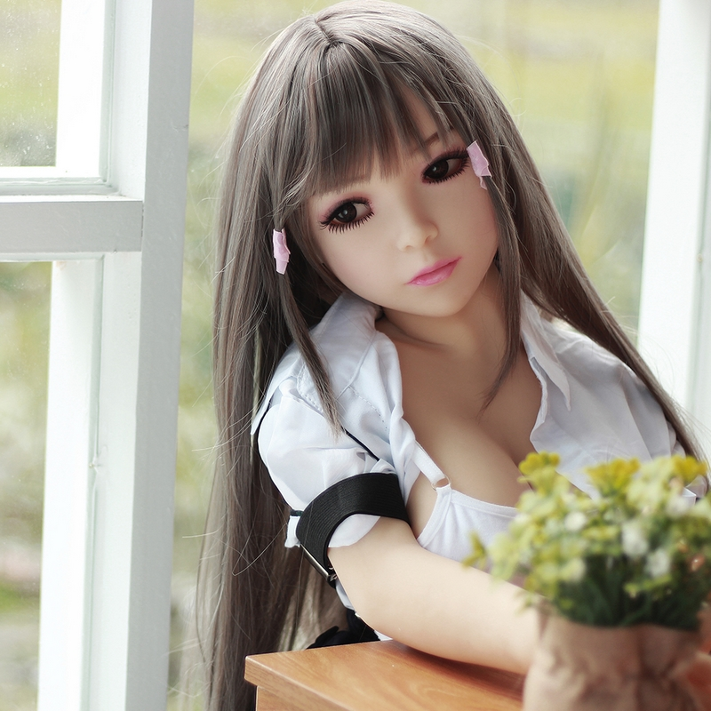 Sex Doll 100cm Japanese Lifelike Cosplay Love Dolls with Metal Real Skeleton Silicone Sex Dolls Head Eye Color Optional