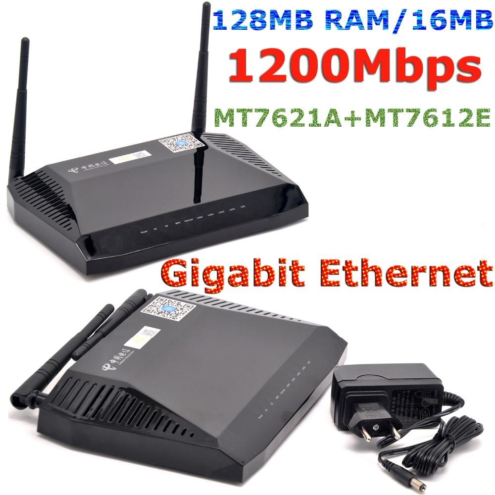 US $37 5 |MTK MT7621A 1200Mbps 802 11ac 5GHz OPENWRT Router Gigabit  Wireless WiFi Router USB VPN Padavan Firmware + 128MB RAM/16MB Flash-in  Wireless