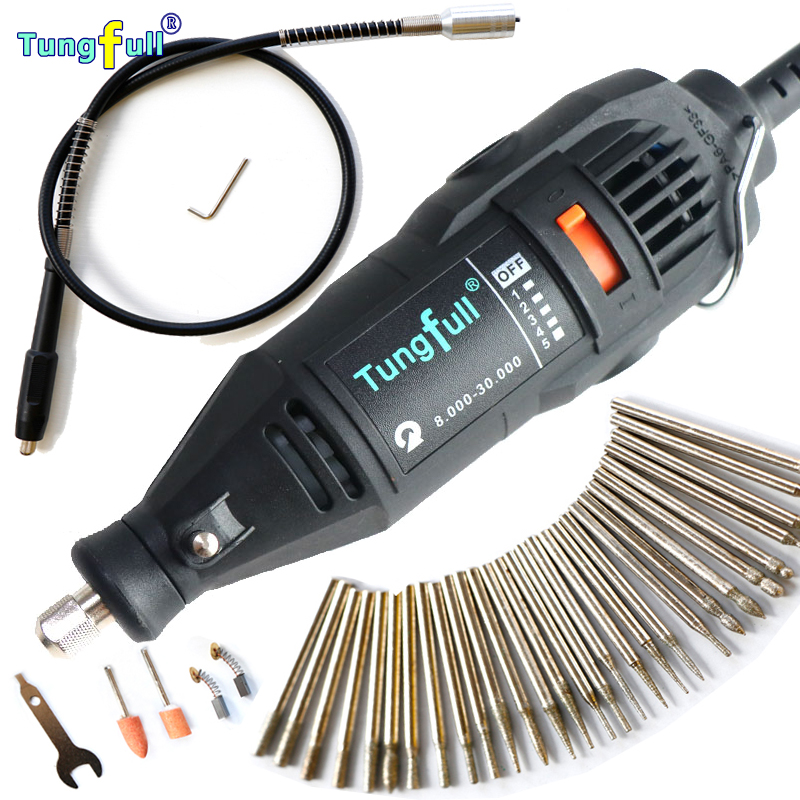 Dremel Style Mini-mill Grinding Machine Engraving Pen Electric Drill DIY Dirlls with 30pcs grinding needle with Flexible tube  цены