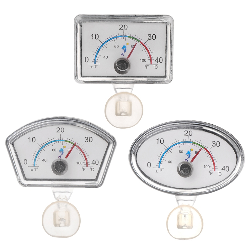 2019 New Aquarium Thermometer Pointer Fish Tank Temperature Dial Submersible Suction Cup font b Pet b