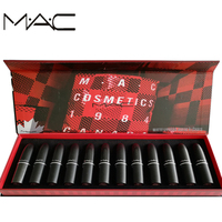 MAC makeup 12 Different Colors Sexy Women Limited Set Multi function Sexy Matte Lipstick Matte Shimmer Lip Stick 1 Set