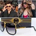 Fashion Mens Sunglasses Vintage Mirror Oversized Metal Frame Sunglasses Women Brand Designer Driving Square Sunglasses UV400
