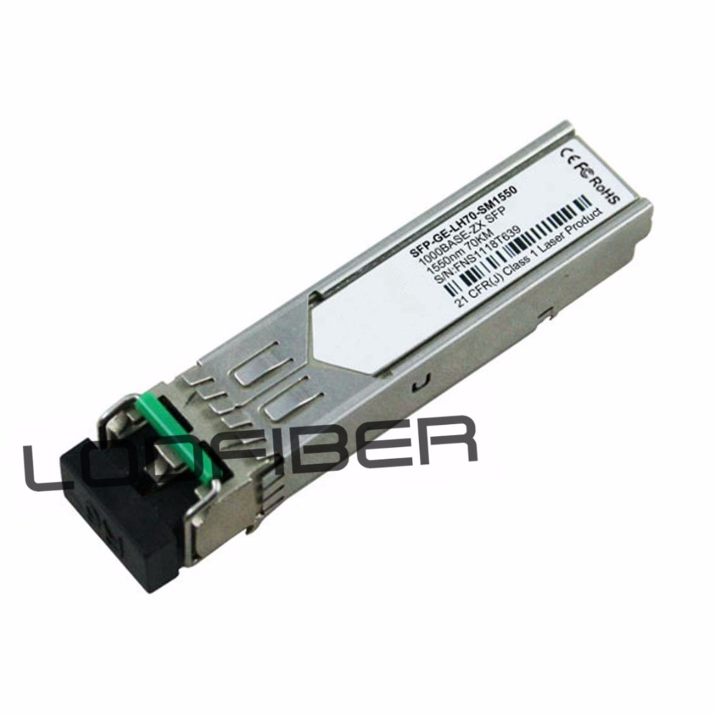 SFP-GE-LH70-SM1550 Compatible 1000BASE-LH SFP 1550nm 80km DOM TransceiverSFP-GE-LH70-SM1550 Compatible 1000BASE-LH SFP 1550nm 80km DOM Transceiver