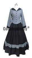 Civil War Victorian Tartan Ball Gown Lolita Dress Prom