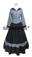 Civil War Victorian Tartan Ball Gown Lolita Dress Prom