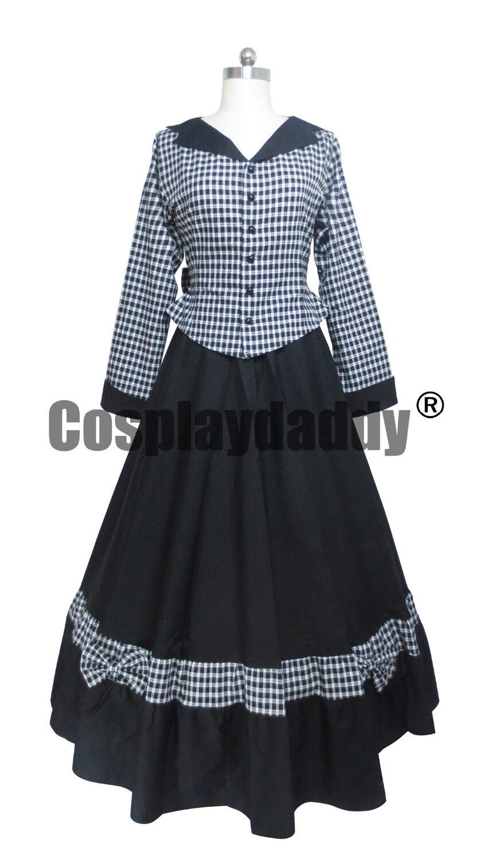 Guerre civile victorienne Tartan robe de bal Lolita robe de bal