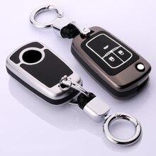Étui pour clé de voiture en cuir à lumière, pour OPEL Insignia VAUXHALL Astra J Mokka, Buick, pour Chevrolet Cruze Aveo Spark TRAX Volt