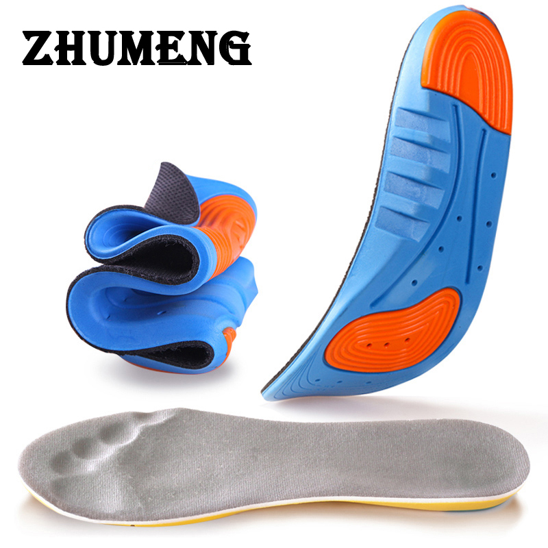 ZHUMENG Insole Silicone Gel Insoles Running Insoles Massaging Shoe Inserts Pad Shock Absorption for Men Women Shocker 2017 promotion gel insoles shock
