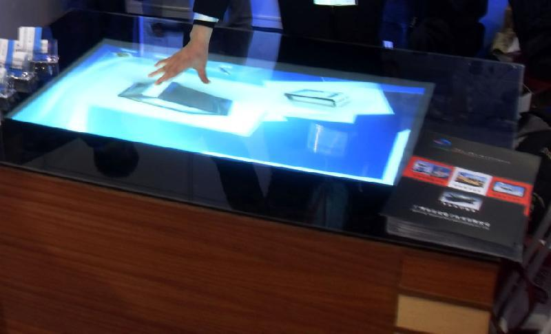 On sale! 58 lcd transparent interactive touch foil for touch kiosk, table etc with truly 4 points touch