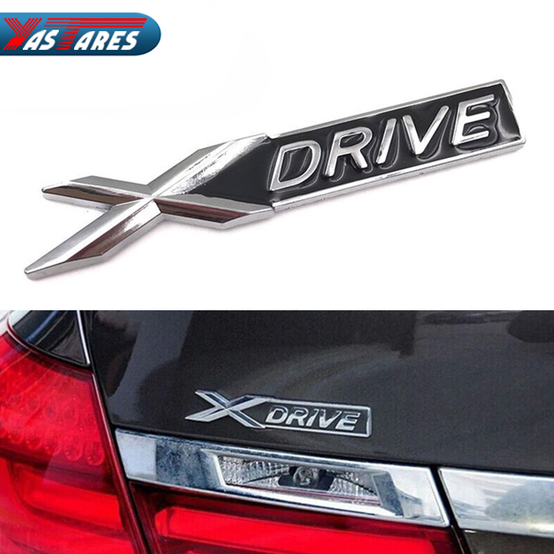 NEW 3D Metal Chrome Badge X <font><b>DRIVE</b></font> <font><b>Emblem</b></font> Badge Sticker Decal for <font><b>BMW</b></font> 3 4 5 6 7 All Series X1 X3 X5 E70 X6 E71 Car Decoration image