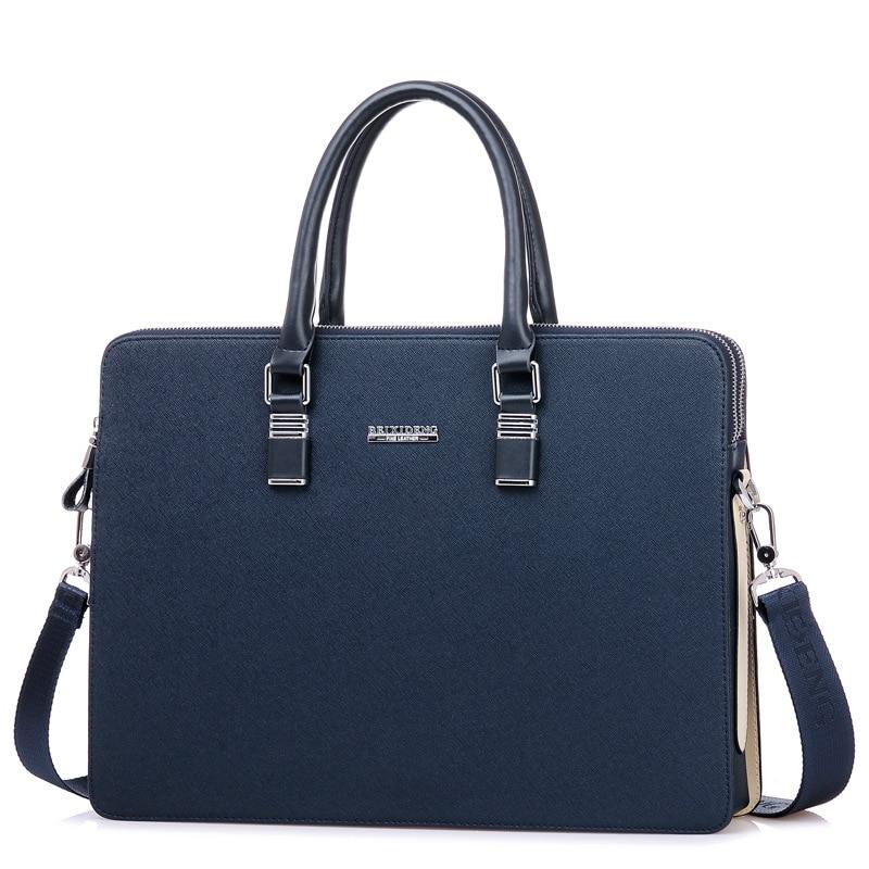 αγγελιοφόρος τσάντα άνδρες τεχνητό δέρμα Casual Χαρτοφύλακας Laptop τσάντα 14 ίντσες αρσενικό Vintage Crossbody ώμου Business Bag