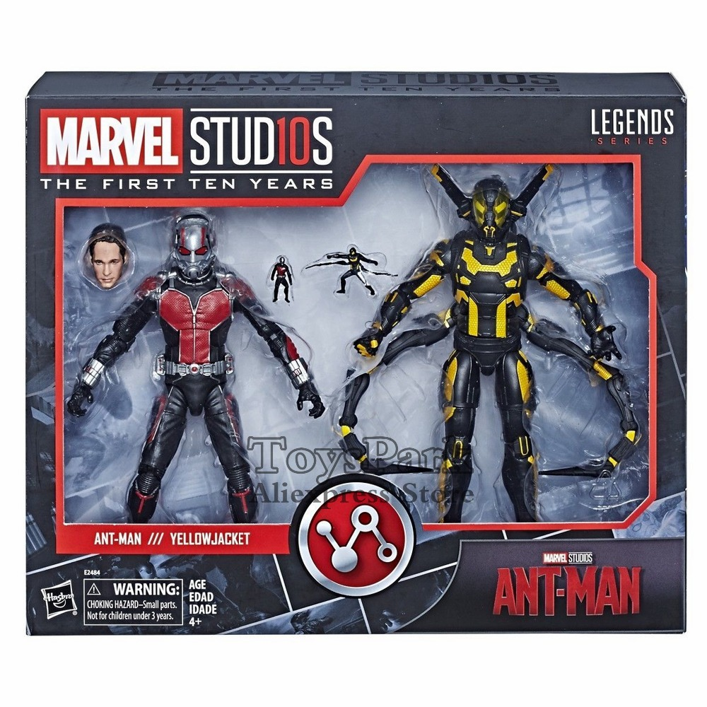 2018 Marvel Legends 10th Anniversa 6 Ant Man & Yellow Jacket Movie 2015 Action Figure Studis First Ten Years Doll Collectible