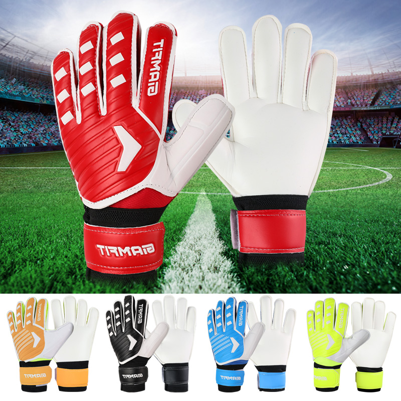 Adults Kids Size Latex Soccer Goalkeeper Gloves Professional Football Goalkeeper Gloves Strong Protection Football Match Gloves 1