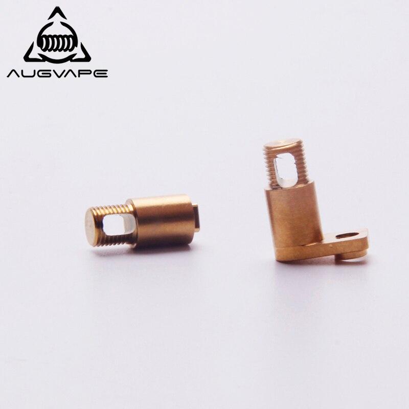 Augvape Druga RDA Positive und Negative Zubehör Edelstahl Stell Gold Überzogene Ersatz E-zigarette Druga RDA DIY Verdampfer