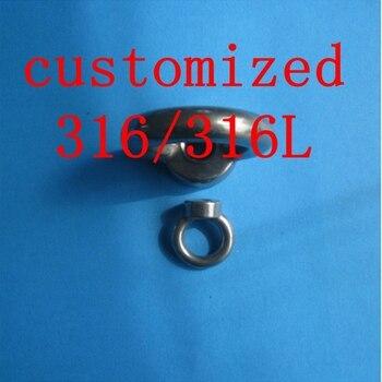 Customized M20 M24 GRADE 316 A4 STAINLESS STEEL EYE NUT DIN582 LIFTING EYE MARINE GRADE