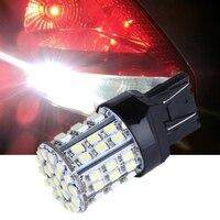2 Teile/los T20 W21W 7443 7440 LED 64-SMD 1206 Auto Auto Schwanz Stop Bremse Glühbirne Lampe Weiß 12V 1,5 W 6000K auto-styling