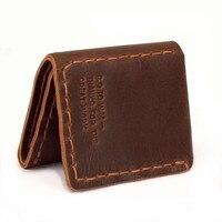 Secret Life Of Walter Mitty Vintage Design Mens Brown Wallet Handmade Purses Credit Card Slot Crazy Horse Leather Wallets