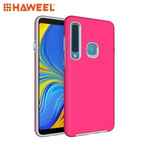 HAWEEL Phone Case for Galaxy A9 (2018) / A9s Anti-slip Armor Texture TPU + PC Protective Cover Shell