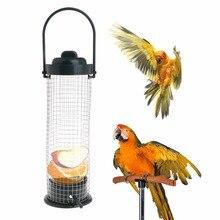 Bird Feeder Outdoor Hanging Mesh Feeding Wild Birds Plastic Supplies Products Park Garden Tree Container Parrot Food Dispenser