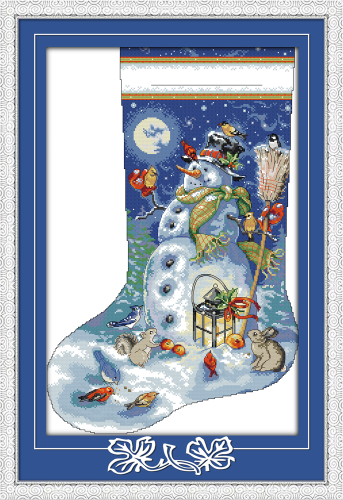 Superior Christmas Stocking Sewing Kits #1: Joy-sunday-cartoon-style-Christmas-stocking-cross-stitch-patterns-needlepoint-kits-for-handmake-embroidery.jpg