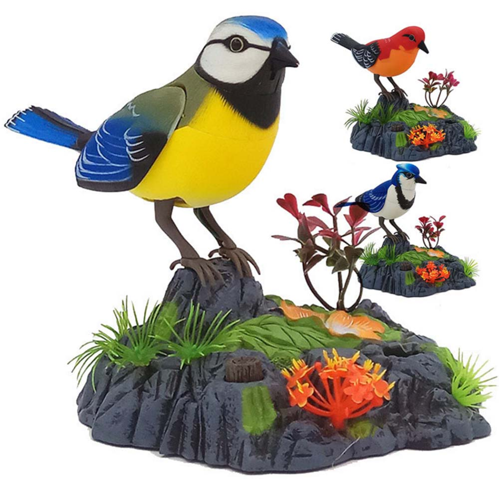 Children's Simulation Bird VoiceThe Move Electric Induction Toy Interactive Toy Fake Flower Fake Bird Voice Control Electri