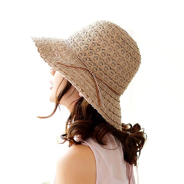 Nuevo algodón plegable Beach Sun sombreros para las mujeres diseño de moda  mujer sombrero de verano eaa7a2ab1a6