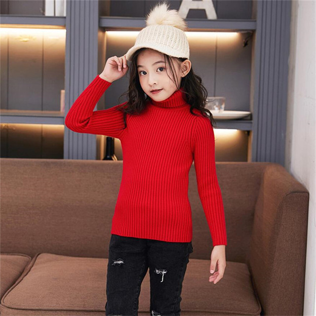 LILIGIRL Baby Girls Winter Turtleneck Sweater Colthes 2018 Autumn Boys Children Clothing Pullover Knitted Solid Kids Sweaters 5