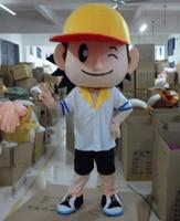 Baseball Boys Plush Cartoon Character Costume Mascot for Halloween party event