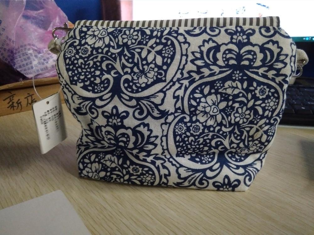 QZH Women Mini Messenger Bags Flap Bag Lady Fresh Style Canvas - Պայուսակներ - Լուսանկար 6