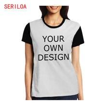 Женская футболка на заказ печать собственного дизайна логотипа/текста/фото