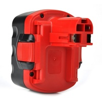 2 Pack Power Tool Replacement Battery for Bosch BAT040 [14.4V, 2.0Ah, NiCd], Red&Black