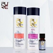 PURC 12 formalin keretin hair treatment 100ml and purifying shampoo and 10ml argan oil best hair