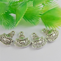 15pcsTopAntique Silver Summer style Alloy Frog Pendants Charms fashion Jewelry Finding For necklace14 * 10 * 3mm 50837
