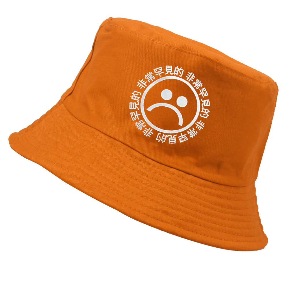 265785fd1d9 2017 new hot fishing bucket hat cap sun protection cotton summer sad boy  cry face emoji fisherman hat men hip hop 6 colors