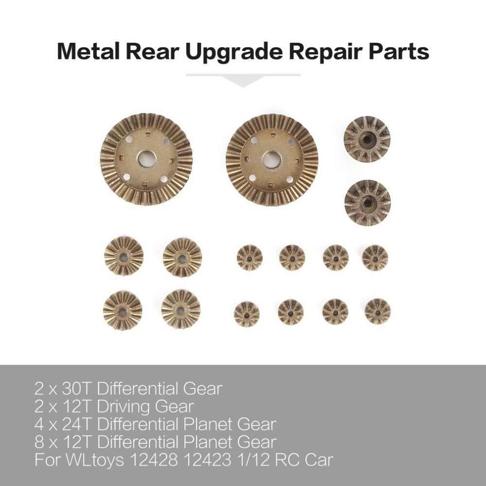 2T 24T 30T Motor Rijden Gear/Metalen Front Achter Differentieel Upgrade Reparatie Onderdelen voor WLtoys 12428 12423 1/12 RC Auto