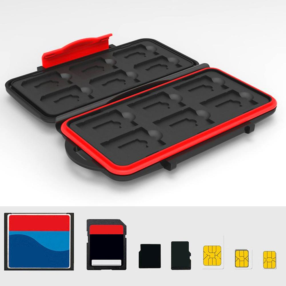 Sale Waterproof Carrying 24 SD TF Memory Cards Storage Box Protector Case Holder