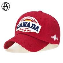 2b76b19e7aedb FS hombre mujer gorras de béisbol Canadá papá sombrero de moda Hip Hop  deporte al aire libre de tapa completa Snapback blanco ro.